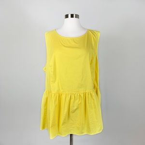 LANE BRYANT - Yellow Sleeveless Tank Top Size 24